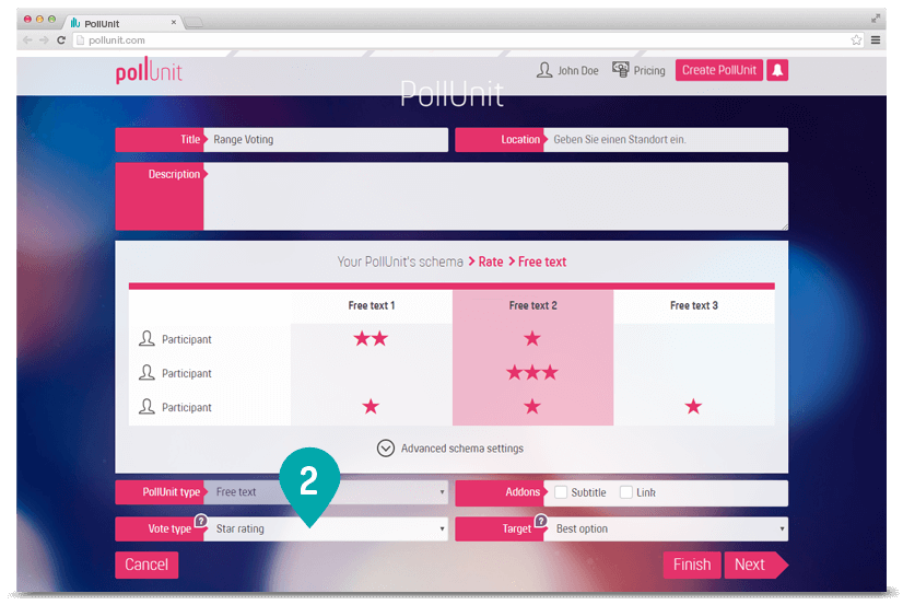 Create online star rating